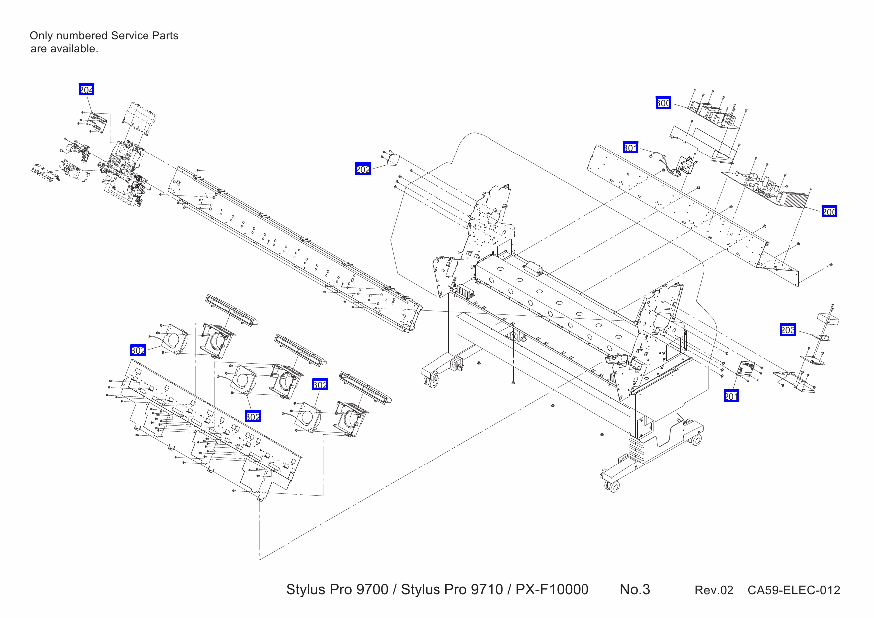 EPSON StylusPro 9700 9710 Parts Manual